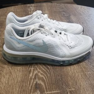 Nike Air Max 360 white silver size 8